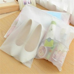 wholesalers for door gift bag UK - Frosted Zipper Seal Plastic Bag Travelling Storage Bag Reclosable Zipper Seal Pouch for Gift Clothes Jewelry
