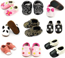 Glitter Bling Baby Australia - Infant Toddler Baby Soft Sole Tassel Bowknot Moccasinss Crib Shoes glitter floral moccasins boys girls birthday party shoe