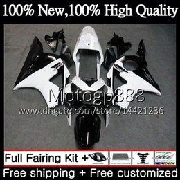 Cbr 954 Bodywork Australia - Body For HONDA CBR900RR Black white CBR 954 RR CBR900 RR CBR954RR 02 03 41PG22 CBR954 RR CBR 900RR CBR 954RR 2002 2003 Fairing Bodywork