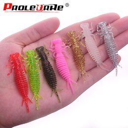 $enCountryForm.capitalKeyWord Australia - 10Pcs lot Wobblers Fishing Lures 55mm 1.2g soft bait Worm Luminous Grubs Aritificial Silicone salt Smell Bass Jigging Pike Lure