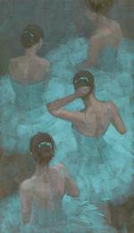 $enCountryForm.capitalKeyWord Australia - Artwork -ballerinas-in-blue- Unframed Modern Canvas Wall Art for Home and Office Decoration,Oil Painting ,Animal painatings ,frame.