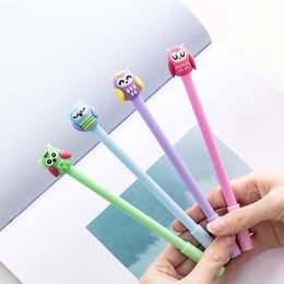 $enCountryForm.capitalKeyWord Australia - 2019 36 Pcs lot New Cartoon Color Owl Pen 0.5mm Black Ink Gel Pens Stationery Items Office School Student Supplies Canetas Escolar