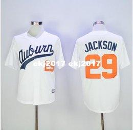 2016 novos homens baratos 29 Bo Jackson Retro Jerseys, Auburn University Jersey venda por atacado