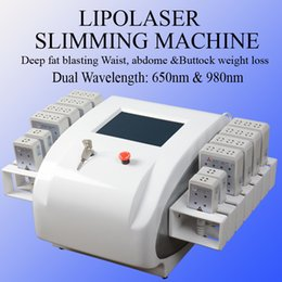 LLLt machine online shopping - 2019 new arrival mw mw Diode Lipo Laser LLLT Fat Burning Anti Cellulite Pads Weight Loss Beauty Slimming Machine