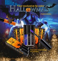Long Lips online shopping - Hot Sale NICEFACE Halloween Liquid Lip Gloss Colour Set Long Lasting Lip Colour Lipstick waterproof