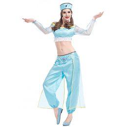 $enCountryForm.capitalKeyWord NZ - Sexy Women Arabian Aladdin Lamp Costume Cosplay Split Belly Dance Show Costume Girl Cosplay Halloween Game Festive Uniform