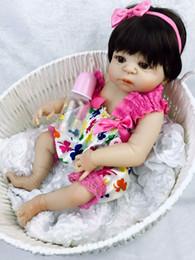 $enCountryForm.capitalKeyWord Australia - 23 Inch White Skin Baby Doll Realistic Full Silicone Vinyl Alive Girl Doll Reborn Baby Doll For Children Gifts Kid Best Playmate