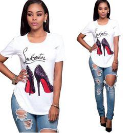 Venda quente de Algodão de Alta Qualidade Corte Pug Impressão Mulheres Camiseta Casual O Pescoço Mulheres T-Shirt Novo Design Mulher Camisetas Femininas venda por atacado