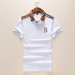Wholesale polo t shirt men v neck for sale – custom new Mens Designer Polos Brand small horse Crocodile Embroidery clothing men fabric letter polo t shirt collar casual t shirt tee shirt