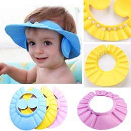 $enCountryForm.capitalKeyWord Australia - 3 Color Soft Adjustable Baby Shower Cap Protect Children Kid Shampoo Bath Wash Hair Shield Hat Waterproof Prevent Water Into Ear