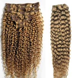 Clip Hair Black Australia - 4B 4C Afro Kinky Curly Clip in Human Hair Extensions Natural Black 8pcs Brazilian Remy Hair Clip 100g Set Clip In Human Hair Extensions