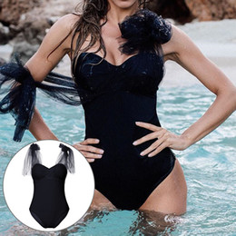beautiful sexy women swimsuits NZ - 2018 Women Swimwear Lady Sexy Mesh Solid Color Black Pink Swimming Bodysuit Beautiful One Piece Swimsuit Biquini Maillot De Bain