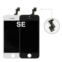 iphone 5s lcd screen white Canada - Mobile phone parts for iPhone SE Black and white Mobile phone lcd screen for iPhone SE