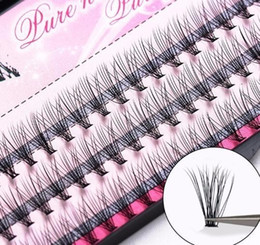 Individual False Eyelashes 14mm Australia - 2019 Natural Fake Eye Lashes 60pcs 8 10 12 14mm Makeup Individual Cluster Eye Lashes Grafting Fake False Eyelashes