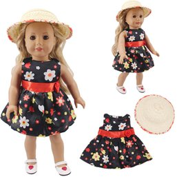 baby girl dresses 18 months Australia - LUCKDOLL Small Fresh Foreign Dress Fit 18 Inch American 43cm Baby Doll Clothes Accessories,Girls Toys,Generation,Gift