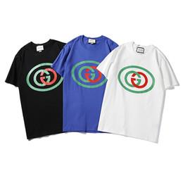 round collar shirt men 2019 - Short-sleeved t - shirt men's Korean version of cotton slim round collar print half sleeve summer men's shirt
