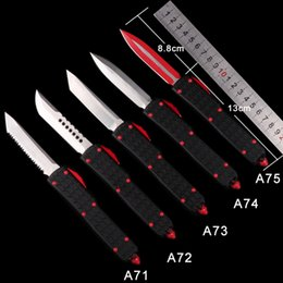 $enCountryForm.capitalKeyWord Australia - High-end CNC gift AUTO MICRO - TECH UTX-85 Automatic Knife UTX-70 HALO V D2 MT knife CNC action tactical cutter gear knives Folding knifes