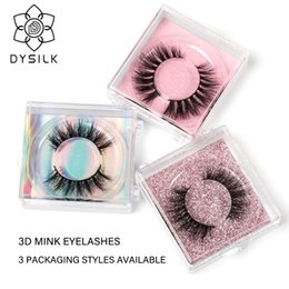 DYSILK 3D Pestañas de visón Pestañas postizas largas y naturales Personalización de cartón de 3 colores Pestañas postizas Pestañas de extensión de maquillaje Pestañas en venta