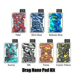 Chinese  Authentic Voopoo Drag Nano Pod Kit 750mAh Battery Box Mod 1.0ml Refillable Vape Pod Cartridge Genuine manufacturers