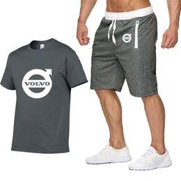 $enCountryForm.capitalKeyWord NZ - Mens Short sleeve Volvo Car Logo Summer Mens t Shirt Harajuku Hip Hop T-Shirt high quality Cotton T Shirts pants suit Sportswear