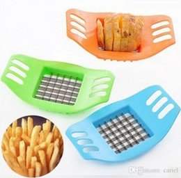 plastic chips cutters NZ - ABS Cariel Steel Potato Cutter Vegetable Slicer Chopper Chips Device Fries Kitchen Cooking Tools Potato Vegetable Slicer new wn030B