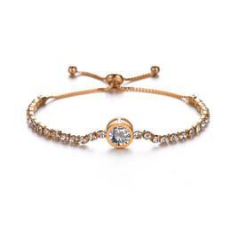 $enCountryForm.capitalKeyWord Australia - Fashion Crystal Infinity Charm Bracelets For Women Statement Round Cubic Zirconia Bracelet & Bangles Jewelry Gifts BB16