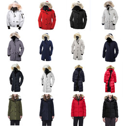 $enCountryForm.capitalKeyWord Australia - 2019 Canada Brand Womens Down Parkas New Thick Warm And Windproof Waterproof Long Section Color Goose Down Jacket Female Winter