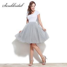 $enCountryForm.capitalKeyWord Australia - Cheap Tutu Skirt Petticoat Knee Length Wedding Accessories 6 Layer Tulle Underskirt Women Dress Rockabilly Size From S to 5XL