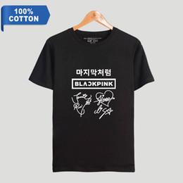 78042a4824 BTS 100% Cotton t-shirts blackpink 2D Print Women and Men Clothes 2019 Hot  Sale summer Short Sleeve K-pops T-Shirts Plus Size