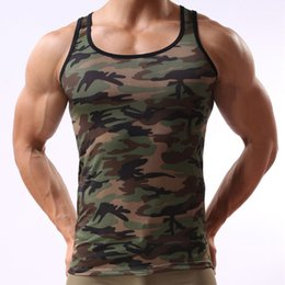 lycra fitness vest Australia - Camouflage Men Tank Top Brand Lycra Bodybuilding Fitness Singlets Summer Undershirt Vest Clothes Muscle Mens Tank Tops Shirt