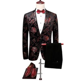 Rowing Suits Australia - Fashion new Korean version of the large size hot wholesale men's letter printing casual single row one button small suit