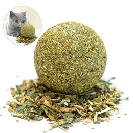 $enCountryForm.capitalKeyWord Australia - 1PC Cat Natural Catnip Edible Ball Mint Toy for Cat Kitten Catnip Treating Ball Pets Funny Toy Cat Dog Balls Toys