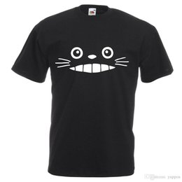 Face T Shirt Designs Australia - Printed T Shirts Men's StreetwearTotoro Face Design Printed T-Shirt Kids and Adult Sizes Summer Casual Clothing