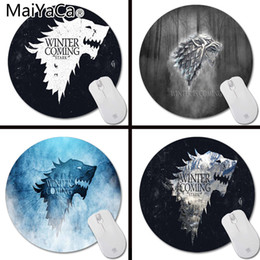 tone pads Australia - MaiYaCa Custom Tones Stark Winter is Coming wallpaper Art Print Mouse Pad Anti-Slip Round Mousepad Me Mats Mouse Mat for Optal