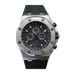 $enCountryForm.capitalKeyWord NZ - Mens Designer Watches Multifunction Mechanical Automatic Watch 44mm 316L Steel Case Black Rubber Strap Waterproof Swim luxury watch man