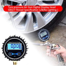 quick tester NZ - High Precision Digital Tire Pressure Gauge Car Bike Motorcycle Tyre Tester Air PSI Meter 1 8NPT Wholesale Quick delivery CSV