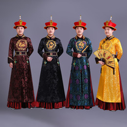 $enCountryForm.capitalKeyWord NZ - Fashion Men Chinese Ancient Clothes For Prince Chinese Qing dynasty Style With Hat carnival halloween Men's stage wear cosplay fancy dress