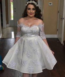 Short Sexy StudentS online shopping - Silver Crystal Short Homecoming Dresses Off Shoulder Half Sleeve Appliques Beads Mini Prom Party Dress Student Graduation Wear Cheap
