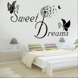$enCountryForm.capitalKeyWord Australia - SWEET DREAMS Butterfly LOVE Quote Wall Stickers Bedroom Removable Decals DIY AU