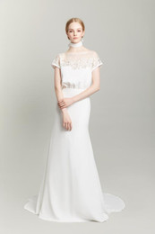 $enCountryForm.capitalKeyWord Australia - Elegant 2019 Mermaid Wedding Dresses With Cap Sleeves Bateau Neckline Slim Fitted Wedding Gowns With Appliques Cheap Garden Bridal Gowns