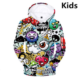 Skull clotheS kidS girlS online shopping - Hot Sale Kids Hoodies Graffiti D Print Boys Girls Hoodies Teens Outerwear Sweatshirt Clothes Children Long Sleeve Pullover SH190914