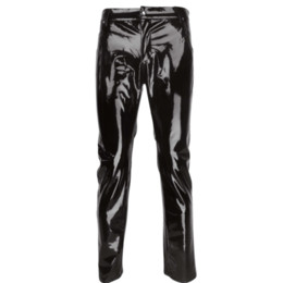 d177a36fa4144a Men Tight Leather Leggings Australia - Fashion Sexy Mens Lingerie Shiny  Patent PVC Leather Tight Pants