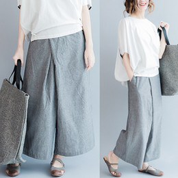 1214c9b3e983 Vertical striped pants online shopping - The wide leg pants new contracted large  size women vertical