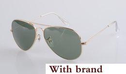 Glasses Sun Protection Australia - 58mm 62 Pilot sunglasses Men Designer uv protection Sunglass Women Driving black lens Sun glasses Glass Lensr Accessories gafas