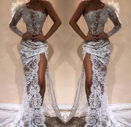 05b017644c 2019 Barato Un vestido de noche de manga larga Frente Dubai Dividir Ver a  través de vacaciones Usar ropa de fiesta formal Vestido de fiesta por  encargo más ...