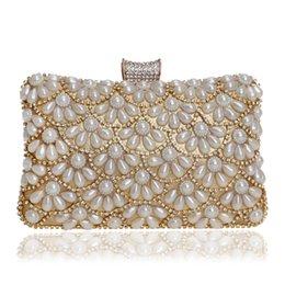 $enCountryForm.capitalKeyWord Australia - Dgrain Luxury Silver Crystal Purse Evening Clutch Bag Women Golden Metal Box Minaudiere Pearl Wedding Party Dinner Diamond Handbag