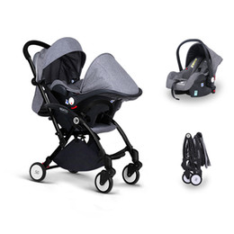 $enCountryForm.capitalKeyWord NZ - Multifunctional 3 in 1 Baby Stroller With Baby Car Safety Seats and Sleeping Basket Newborn with High Landscape Stroller Folding Carriage