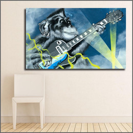 $enCountryForm.capitalKeyWord Australia - 1 Piece Large Size Printing Oil Painting Great Graffiti Chimp Rock Wall Art Canvas Print Pictures For Living Room And Bedroom No Frame