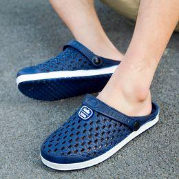 $enCountryForm.capitalKeyWord Australia - YOUYEDIAN 2019 Mens Sandals Solid Water Shoes Slippers Summer Beach Sandal Mens Slip On Casual Shoes Sandale Hommes