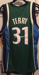 Green Basketball Shirts NZ - Cheap wholesale Jason Terry Jersey AD Sewn #31 Jet Diddy Dirk Mens Green T-shirt vest Stitched Basketball jerseys Ncaa